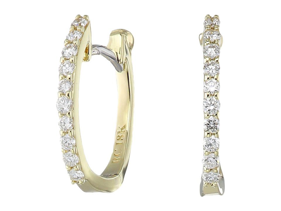 Roberto Coin Perfect Diamond Huggy Earrings (Yellow Gold)...