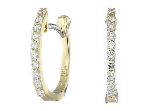 Roberto Coin Perfect Diamond Huggy Earrings - Yellow Gold