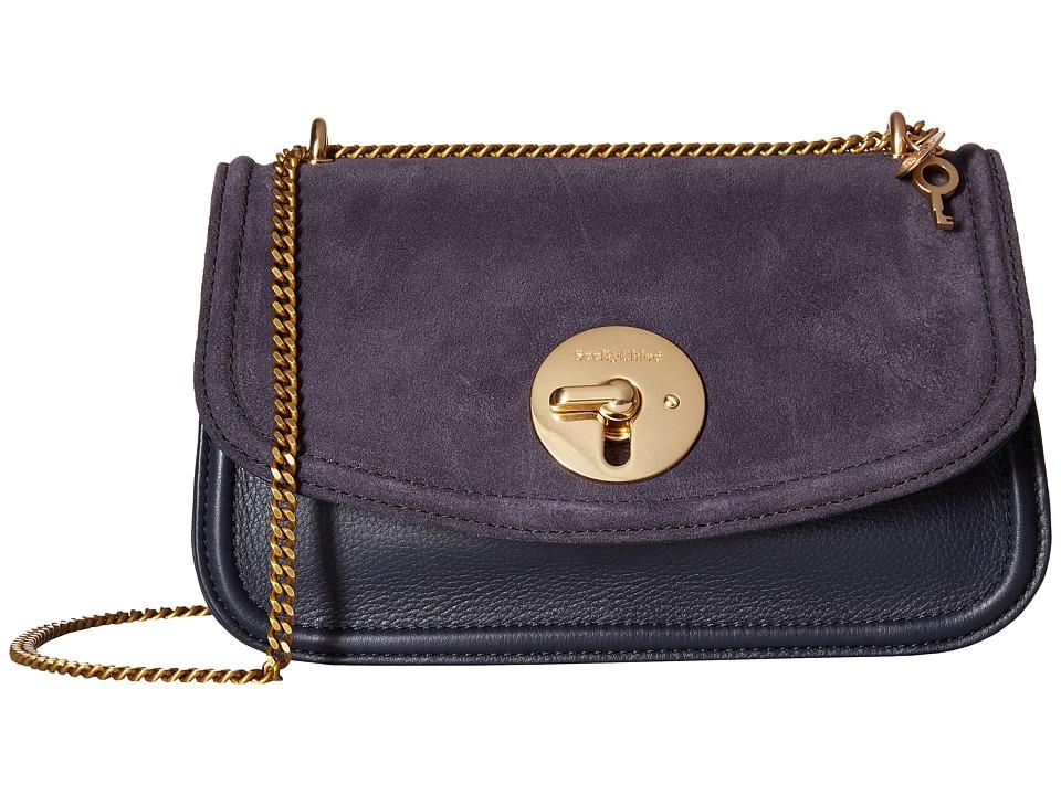 See by Chloe - Lois Medium Evening Double Carry Crossbody (Midnight) Clutch Handbags