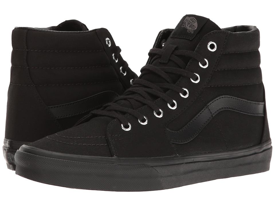 Vans - SK8-Hi ((Mono) Black/Silver) Skate Shoes