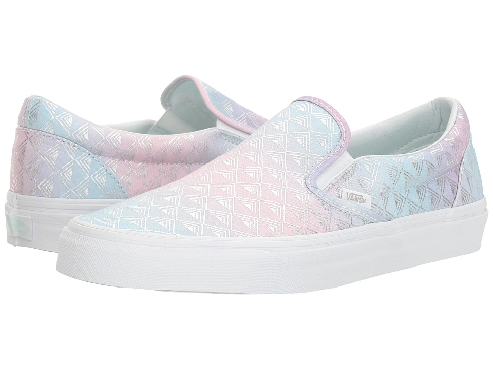 Vans Classic Slip-On ((Rainbow Geo) True White) Skate Shoes