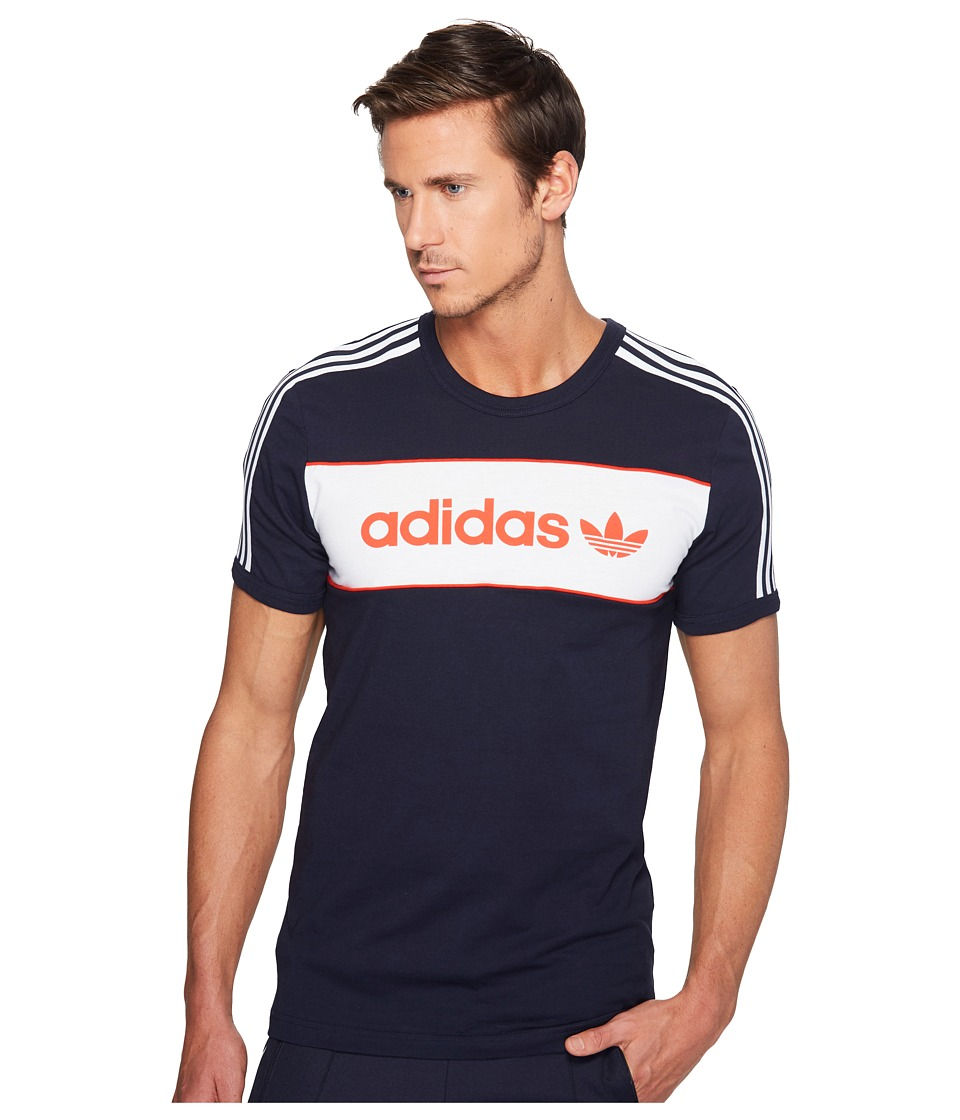adidas Originals Block Tee (Legend Ink) Men