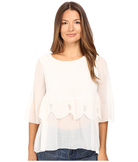 See by Chloe Crepon Tier Blouse - Natural White