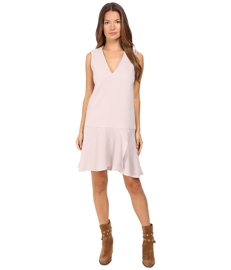 See by Chloe Crepe Shift Dress (Aspen Light Grey) Women