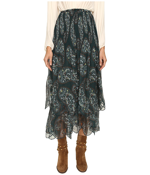 See by Chloe Crepon Paisly Maxi Skirt