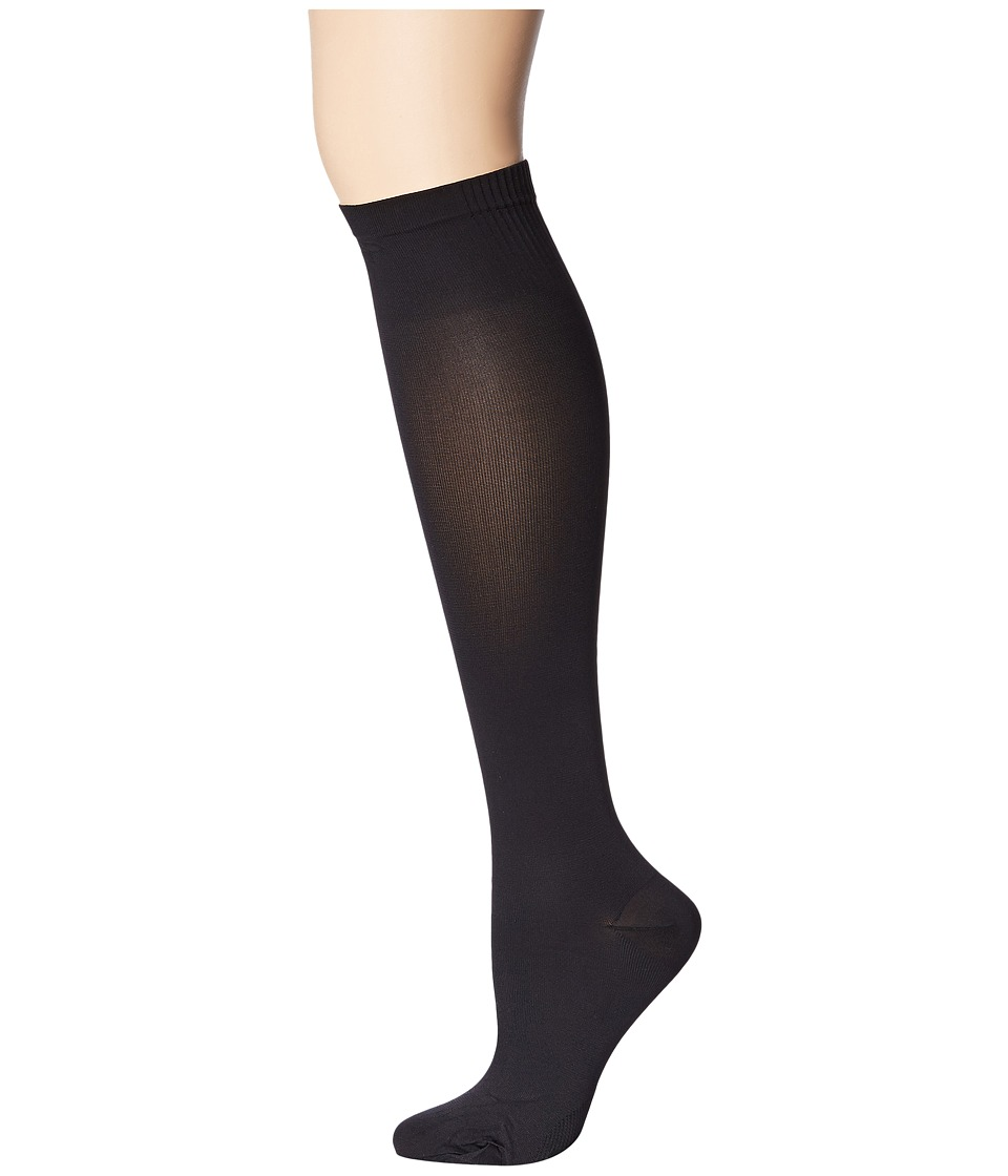 Pretty Polly - Travel Sock (Black) Womens Crew Cut Socks Shoes