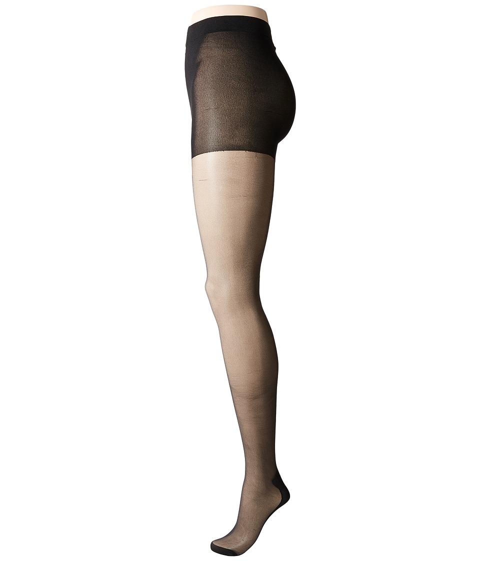 Pretty Polly - Plus Size Curves Backseam Tights (Black) Hose