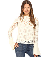 See by Chloe - Jersey Lacey Blouse with Bell Sleeve