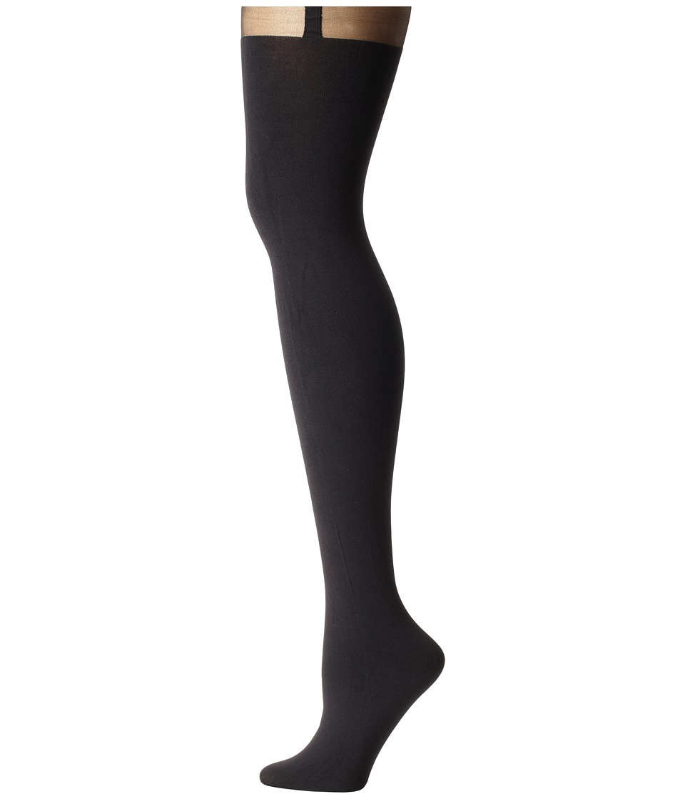 Pretty Polly - Plus Size Curves Suspender Tights (Black) Hose