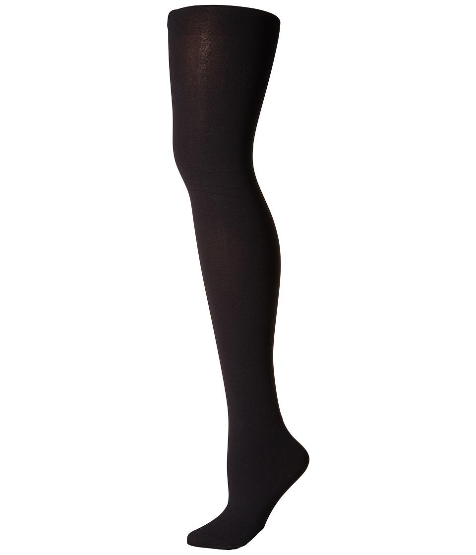 Pretty Polly - Plus Size Curves 60 Denier Plush Opaque (Black) Hose