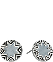 House of Harlow 1960 - Enameled Engraved Mini Sunburst Stud Earrings