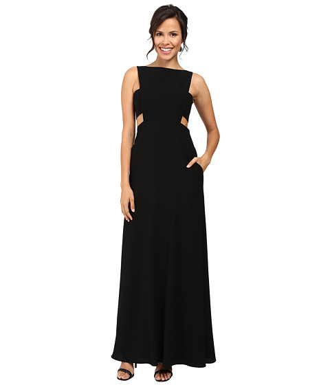 JILL JILL STUART Crepe Sleeveless Gown with Cut Outs