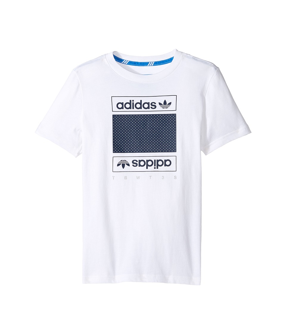 adidas Originals Kids Art of Mesh (Little Kids/Big Kids) (White) Boy