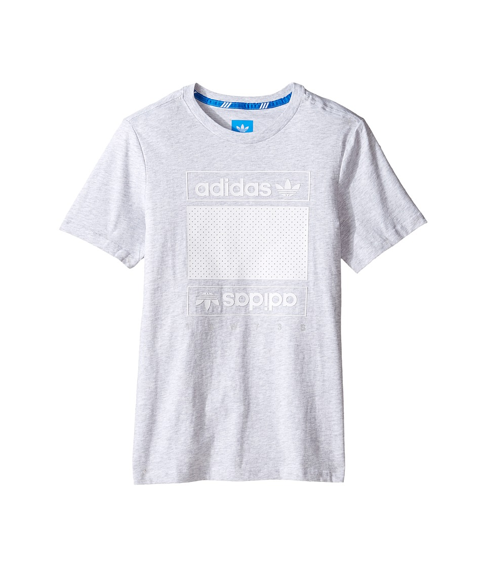 adidas Originals Kids Art of Mesh (Little Kids/Big Kids) (Light Grey Heather) Boy