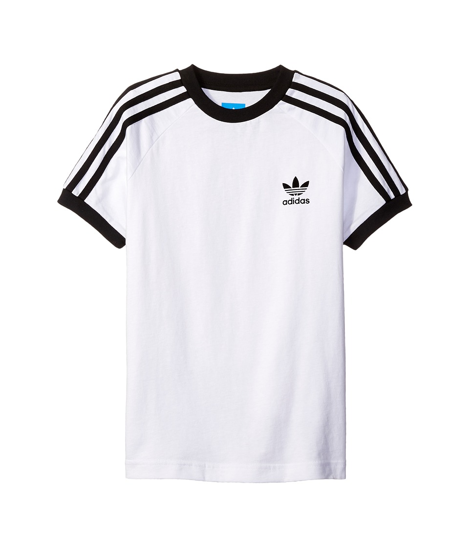 adidas Originals Kids California Tee (Little Kids/Big Kids) (White/Black) Boy