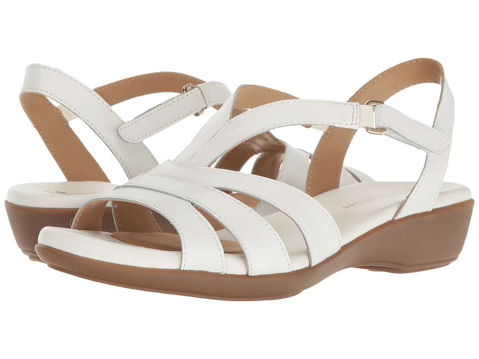 Naturalizer - Neina (White Leather) Women's Sandals