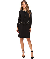 Boutique Moschino - Crepe Bomber Jacket Dress