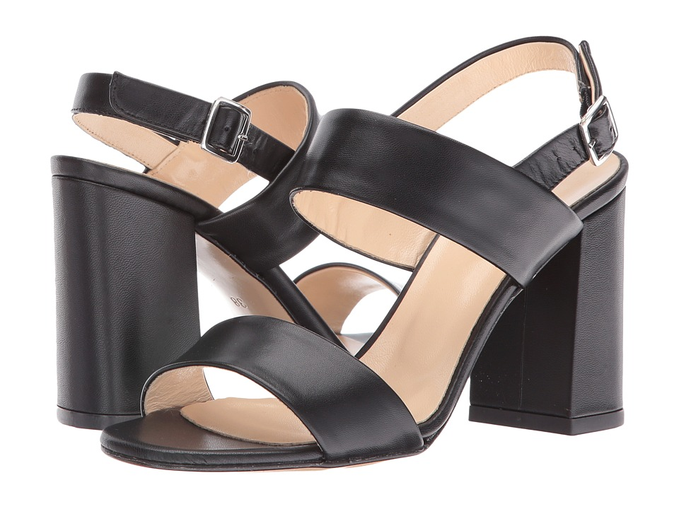 Summit by White Mountain Morna (Black Leather) High Heels