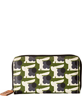 Orla Kiely - Matt Laminated Baby Bunny Print Big Zip Wallet