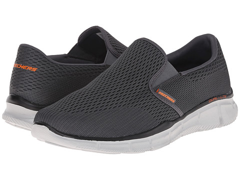 SKECHERS Equalizer Double Play - Charcoal/Orange