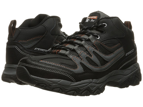 SKECHERS Afterburn M. Fit Mid - Black/Charcoal