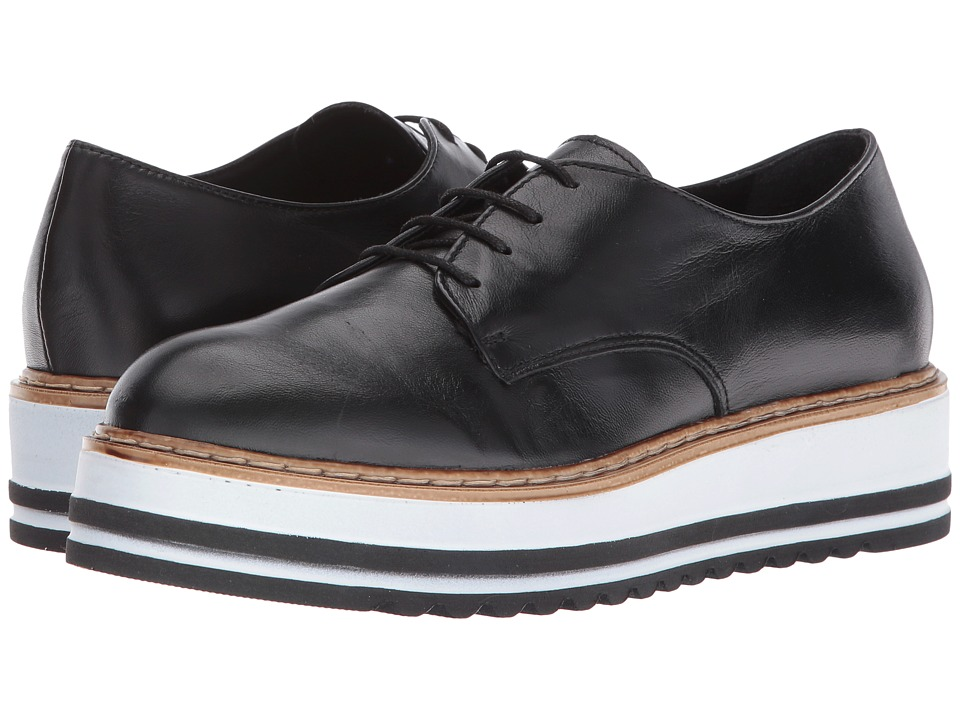 Summit by White Mountain - Belinda (Black Leather) Womens Shoes