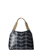 Orla Kiely - Shiny Laminated Solid Stem Print Classic Zip Shoulder Bag