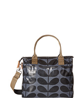 Orla Kiely - Shiny Laminated Solid Stem Print Zip Messenger