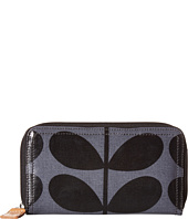 Orla Kiely - Shiny Laminated Solid Stem Print Big Zip Wallet