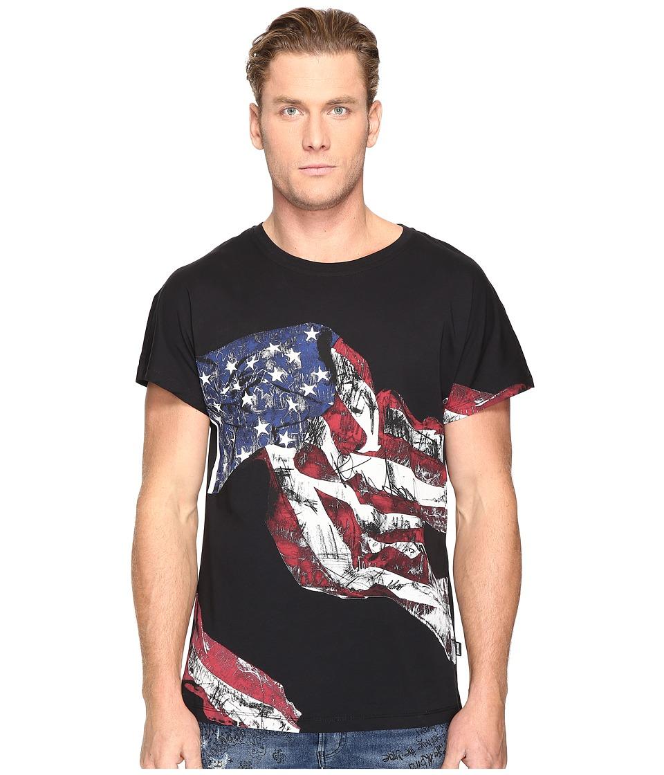Just Cavalli American Flag T-Shirt (Black) Men