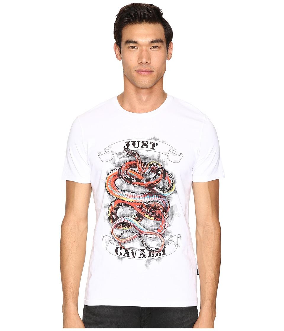Just Cavalli Tattoo Snake T-Shirt (White) Men