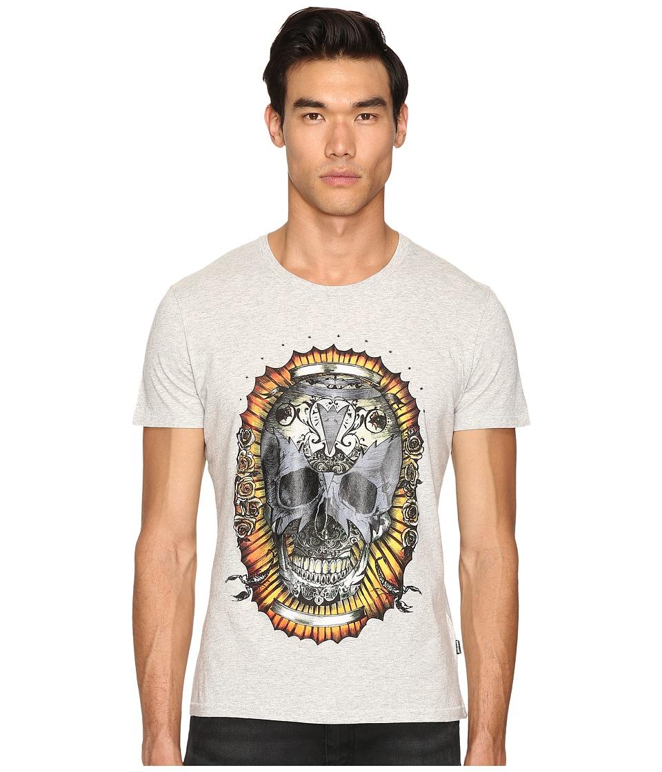 Just Cavalli Wreath Skull T-Shirt (Grey Melange) Men