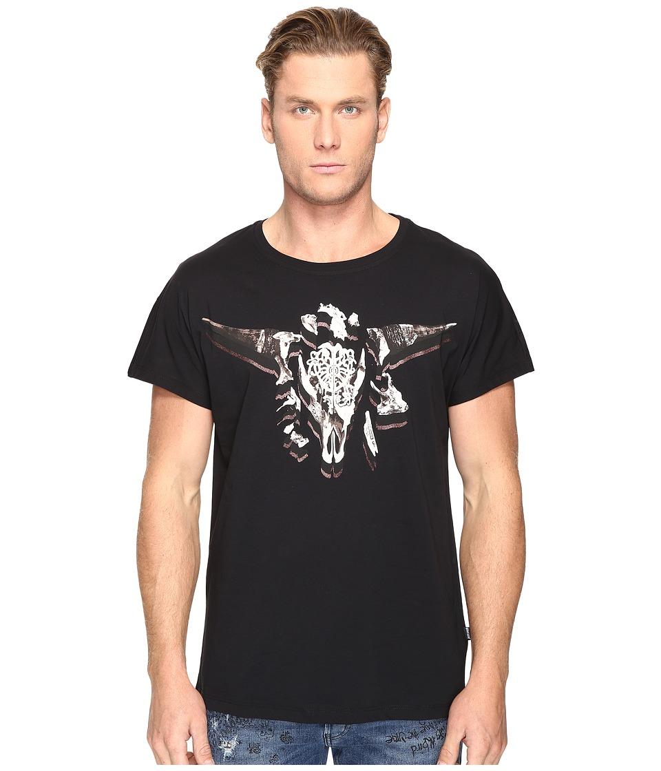 Just Cavalli Horn/Skull T-Shirt (Black) Men