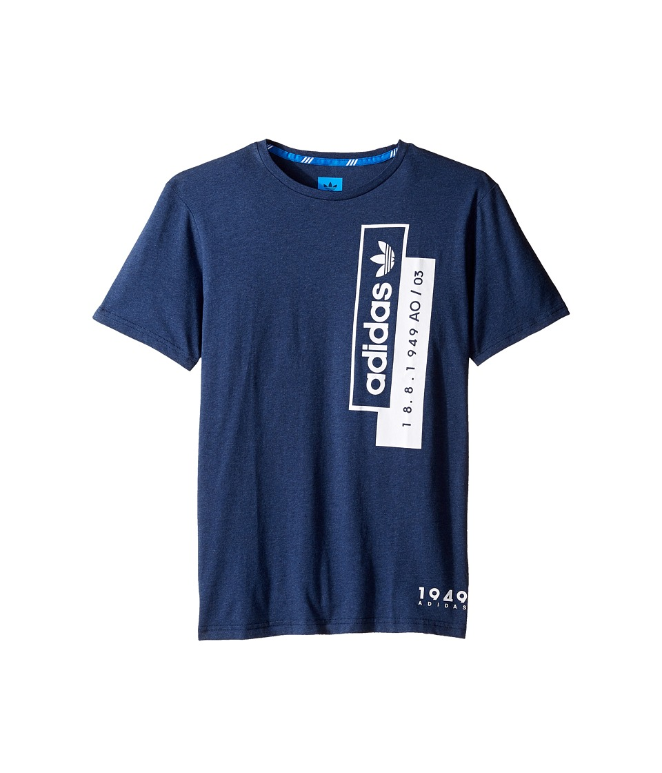 adidas Originals Kids Linear Overlay (Little Kids/Big Kids) (Collegiate Navy Melange) Boy