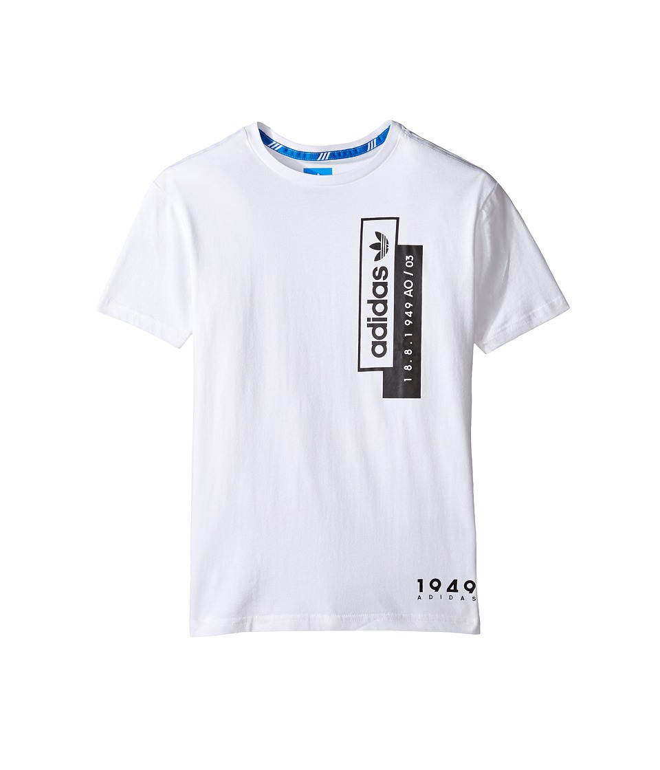adidas Originals Kids Linear Overlay (Little Kids/Big Kids) (White) Boy