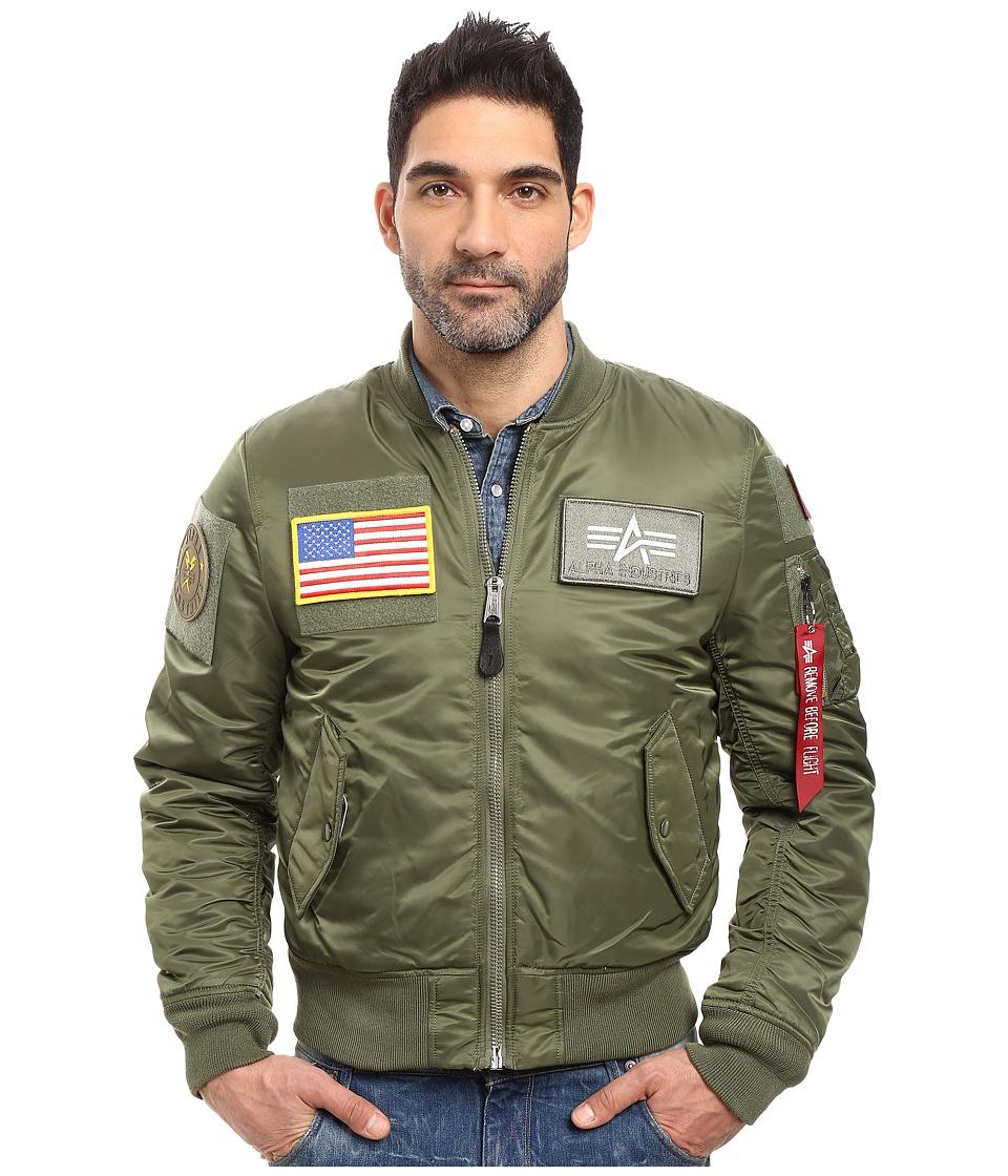 Alpha Industries MA-1 Flex Slim Flight Jacket (Sage) Men'...