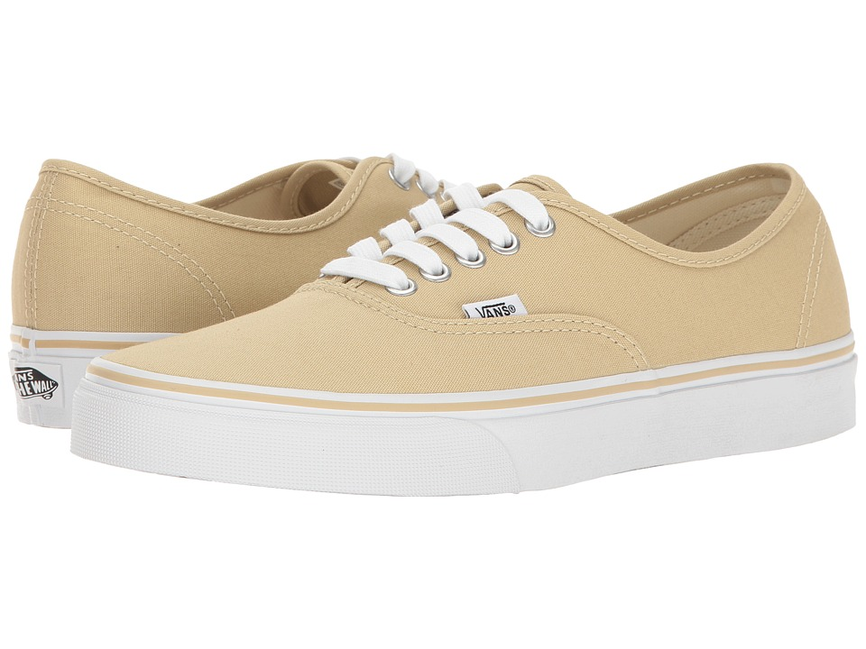 Vans Authentictm (Pale Khaki/True White) Skate Shoes