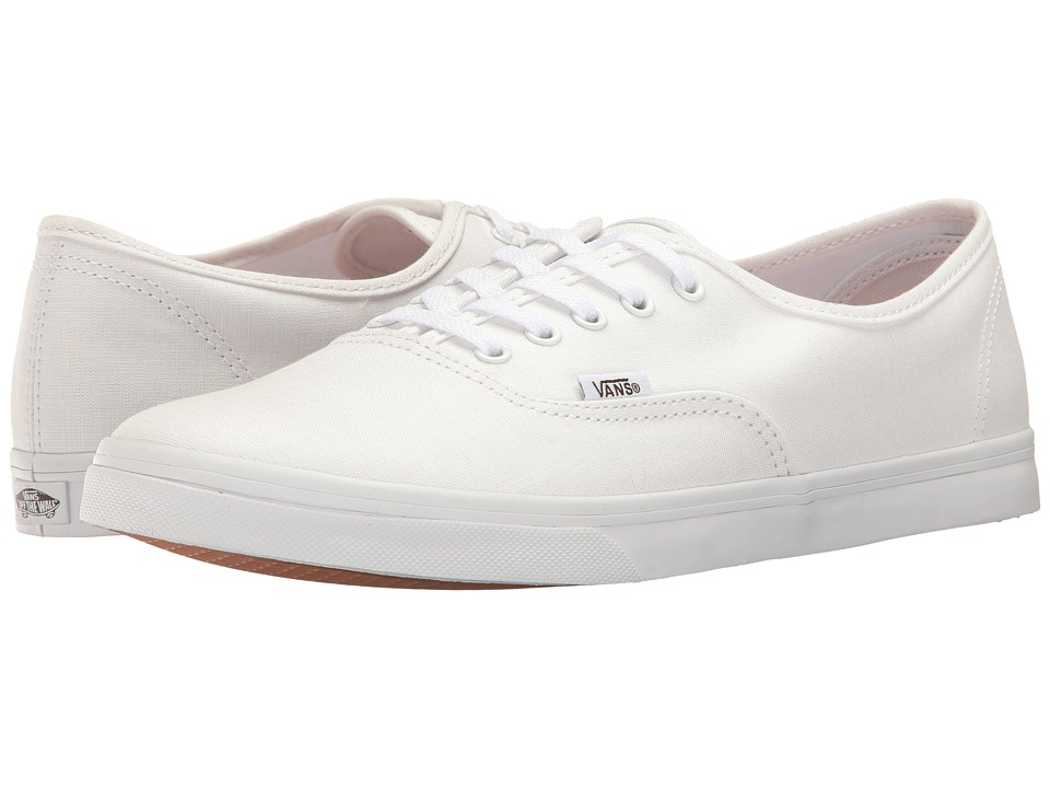 Vans Authentic Lo Pro ((Shadow Stripe) True White/True White) Skate Shoes