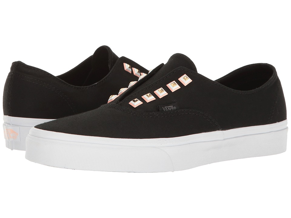 Vans Authentic Gore ((Two-Tone Studs) Black/True White) Skate Shoes