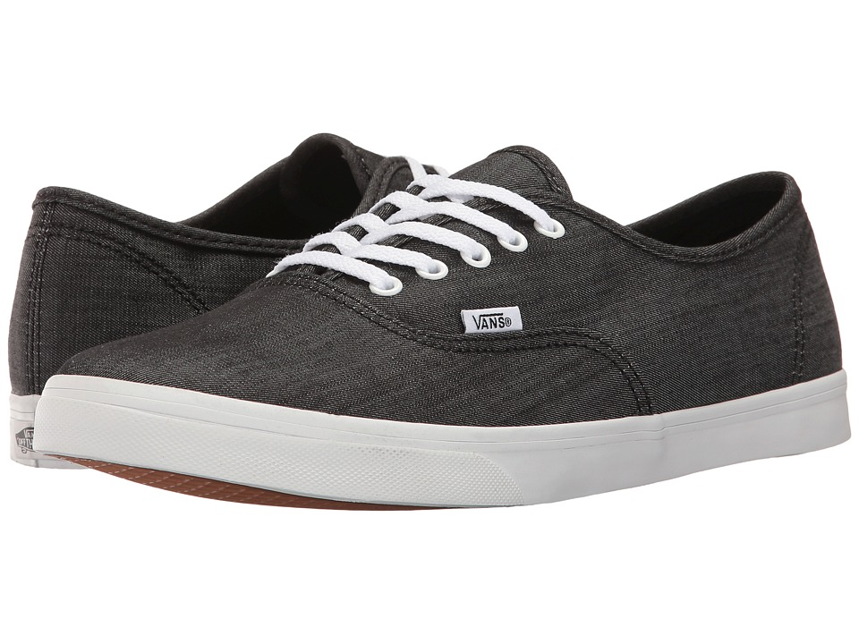 Vans Authentic Lo Pro ((Shadow Stripe) Black/True White) Skate Shoes