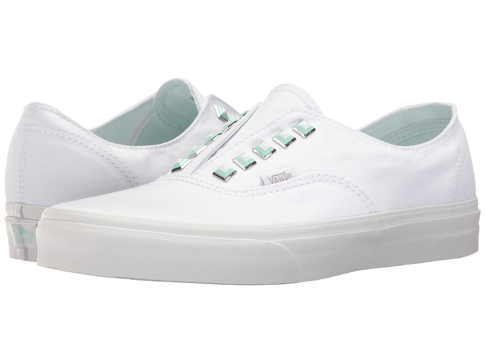 Vans Authentic Gore ((Two-Tone Studs) True White/True White) Skate Shoes
