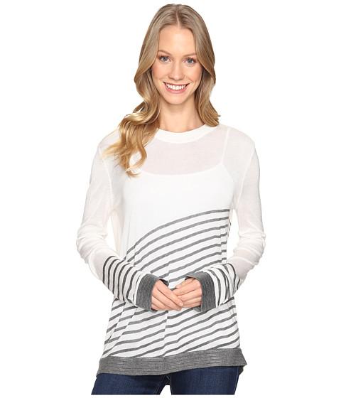 B Collection by Bobeau Marisole Stripe Sweater - Ivory Mix