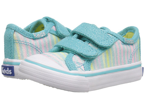 Keds Kids Glittery HL (Toddler/Little Kid) - Turquoise Multi Stripe Sugar Dip