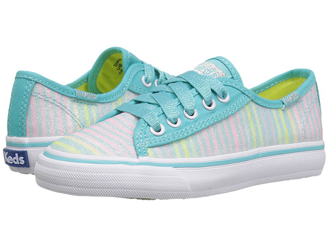 Keds Kids Double Up (Little Kid/Big Kid) - Turquoise Multi Stripe