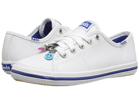 Keds Kids Kickstart Charm (Little Kid/Big Kid) - White Leather