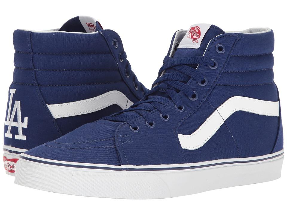 Vans - SK8-Hi ((MLB) Los Angeles Dodgers/Blue) Skate Shoes