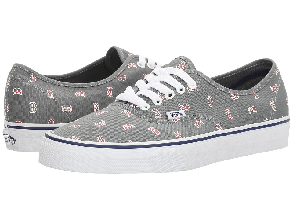Vans Authentic x MLB ((MLB) Boston Red Sox/Gray) Shoes