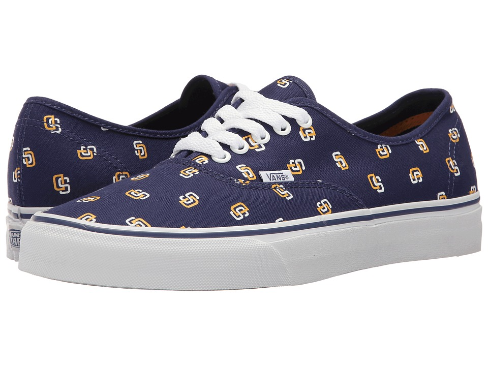Vans Authentic x MLB ((MLB) San Diego Padres/Blue) Shoes