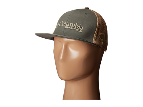 Columbia PFG Mesh Flat Brim Ballcap - Cypress/Tusk/Bass