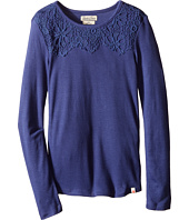 Lucky Brand Kids - Rib/Lace Tee (Little Kids)